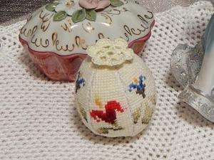 Мастер-класс: вышитое крестиком пасхальное яйцо. Ярмарка Мастеров - ручная работа, handmade.
