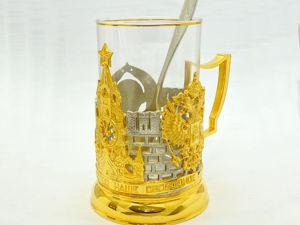 Дорогой подстаканник  «Кремлевские куранты» . Златоуст z1705. Ярмарка Мастеров - ручная работа, handmade.