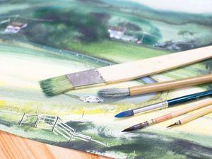 Выбор и работа с кистью для написания акварельных картин. Часть 1. Ярмарка Мастеров - ручная работа, handmade.