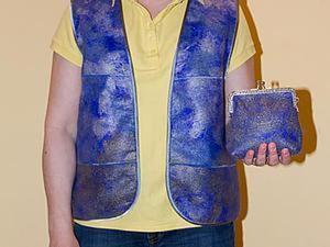 Из валяного жакета шьём жилет, или Классика перелицовывания. Ярмарка Мастеров - ручная работа, handmade.
