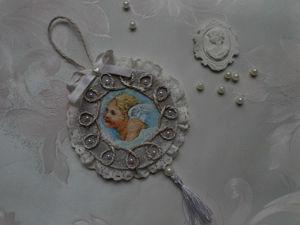 Изготавливаем подвеску на ёлочку «Ангел». Ярмарка Мастеров - ручная работа, handmade.