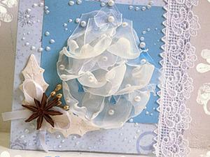 """Новогодняя открытка """"Воздушная елочка"""". Ярмарка Мастеров - ручная работа, handmade."""