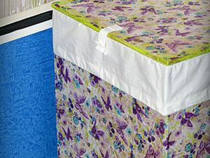 Ящик для белья из картона и бумажных салфеток. Ярмарка Мастеров - ручная работа, handmade.