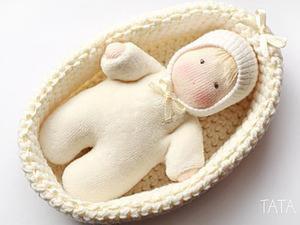 """""""Нежнее нежного"""" — шьем лялечку в колыбельке. Ярмарка Мастеров - ручная работа, handmade."""