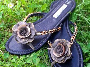 Декорируем пляжную обувь своими руками. Ярмарка Мастеров - ручная работа, handmade.