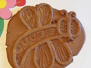 Декорируем глиняный пласт размером с ладошку. Ярмарка Мастеров - ручная работа, handmade.