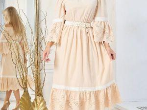 Аукцион на Очаровательное хлопковое летнее платье! Старт 2500 р.!. Ярмарка Мастеров - ручная работа, handmade.