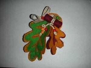 Брошь из фетра «Осенняя». Ярмарка Мастеров - ручная работа, handmade.