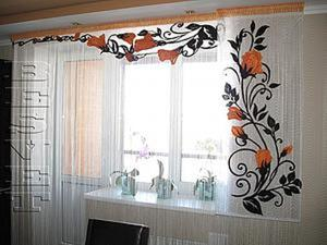 Вышиваем панельку и ламбрекен для окна расписная хохлома. Ярмарка Мастеров - ручная работа, handmade.