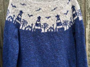 Пряжа по скидке! Принимаю новые заказы на фабрику! Морской свитер от Марины. Ярмарка Мастеров - ручная работа, handmade.
