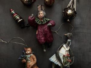 Обзор моих работ. Котик, Мальчик в костюме зайчика и Гусик. Ярмарка Мастеров - ручная работа, handmade.