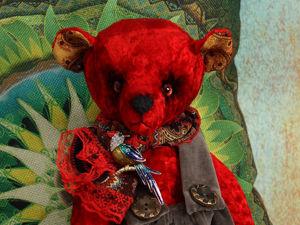 Мишка Рубин из серии  «Самоцветы». Ярмарка Мастеров - ручная работа, handmade.
