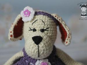 Мастерим крючком собачку-очаровашку. Этап 4: ушки. Ярмарка Мастеров - ручная работа, handmade.