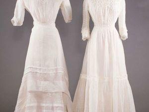 Два чайных платья из батиста и кружева. Ярмарка Мастеров - ручная работа, handmade.