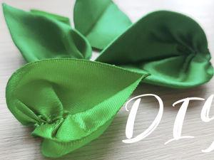 Учимся делать листья для цветов канзаши: 7 вариантов. Часть 1асть 1. Ярмарка Мастеров - ручная работа, handmade.