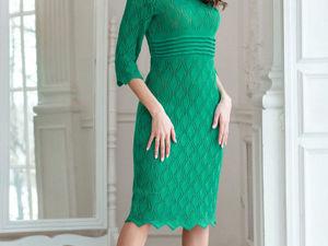 Аукцион на Ажурное вязаное платье! Старт 2500 р.!. Ярмарка Мастеров - ручная работа, handmade.