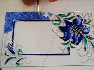 Декорирование фоторамки витражными красками. Ярмарка Мастеров - ручная работа, handmade.