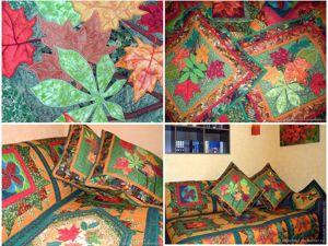 Лоскутное покрывало  «Осень» . Ярмарка Мастеров - ручная работа, handmade.