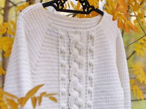 Вяжем вместе (порядово) свитер с косой. Ярмарка Мастеров - ручная работа, handmade.