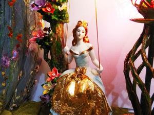 Настольная лампа в стиле ар-нуво и модерн Маркиза ангелов. Ярмарка Мастеров - ручная работа, handmade.