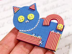 Видео мастер-класс: брошь «Синий кот» из полимерной глины. Ярмарка Мастеров - ручная работа, handmade.