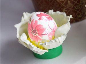 Делаем цветочный держатель для пасхальных яиц из фоамирана. Ярмарка Мастеров - ручная работа, handmade.