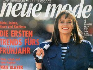 Neue mode 2 1989 (февраль). Ярмарка Мастеров - ручная работа, handmade.