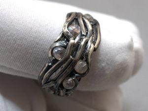 Серебряное кольцо с лунным камнем (видео). Ярмарка Мастеров - ручная работа, handmade.