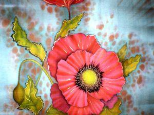 Расписываем шелковый платок. Холодный батик. Ярмарка Мастеров - ручная работа, handmade.