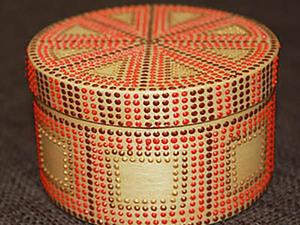 Точечная роспись шкатулки простым геометрическим узором. Ярмарка Мастеров - ручная работа, handmade.