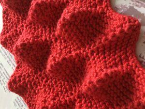 ЧЕШУЯ ДРАКОНА — объемный узор для вязания спицами / Разбор узора. Ярмарка Мастеров - ручная работа, handmade.