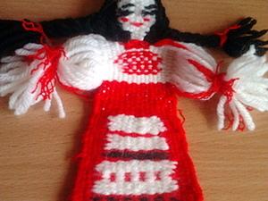 "Кукла-оберег в технике гобелен ""Натуся"". Ярмарка Мастеров - ручная работа, handmade."