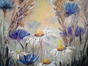 Видео-урок по живописи «Полевые цветы». Ярмарка Мастеров - ручная работа, handmade.