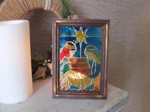 Создаем рождественскую картину в технике Витражная роспись. Ярмарка Мастеров - ручная работа, handmade.