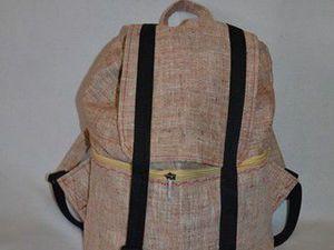 Пошив льняного рюкзачка на бытовой швейной машинке. Ярмарка Мастеров - ручная работа, handmade.