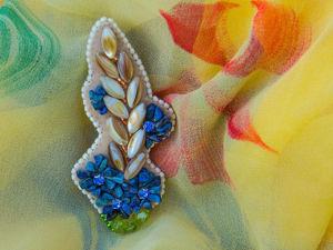 Видеоурок: брошь «Полевой букет» из камней и бисера. Ярмарка Мастеров - ручная работа, handmade.