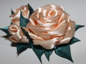 Простой способ сделать цветок из ленты. Ярмарка Мастеров - ручная работа, handmade.