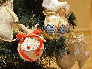 Делаем простые и оригинальные шарики на елку. Видеоурок. Ярмарка Мастеров - ручная работа, handmade.