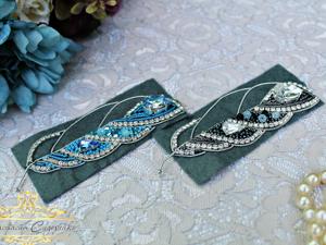 3 и 4 этапы вышивки броши-перо. Ярмарка Мастеров - ручная работа, handmade.