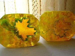 "Мастер-класс: мыло ""Янтарный лист"". Ярмарка Мастеров - ручная работа, handmade."