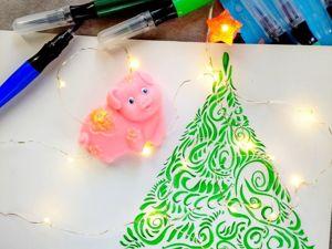 Мастерим новогоднюю открытку-елочку. Ярмарка Мастеров - ручная работа, handmade.