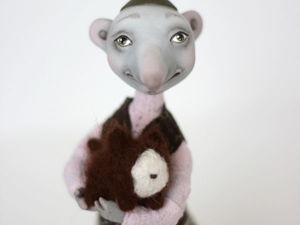 Крыс Ёся с любимым питомцем Жорой. Ярмарка Мастеров - ручная работа, handmade.