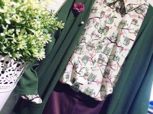 Чудеса случаются! Блуза Совушка размер L в наличии!. Ярмарка Мастеров - ручная работа, handmade.