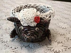 Видео мастер-класс: Мышка из газет. Ярмарка Мастеров - ручная работа, handmade.