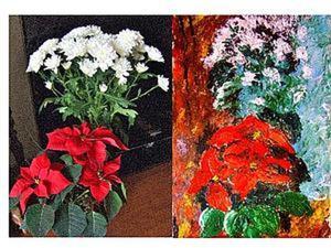 Рисование цветов мастихином. Ярмарка Мастеров - ручная работа, handmade.