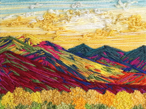 Beauty by Nature: Landscape Embroidery by Carolina Torres. Livemaster - handmade