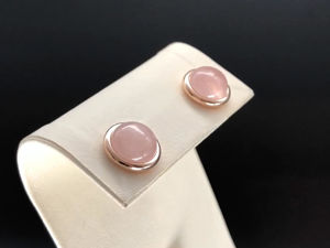 Видео-презентация: серьги-гвоздики с розовым кварцем, арт. 100. Ярмарка Мастеров - ручная работа, handmade.