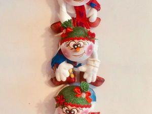 Изготавливаем забавную новогоднюю гирлянду из фоамирана. Ярмарка Мастеров - ручная работа, handmade.