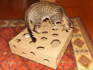 Делаем игрушку для кота из картона: видео мастер-класс. Ярмарка Мастеров - ручная работа, handmade.