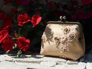 Вечерняя сумочка с вышивкой. Ярмарка Мастеров - ручная работа, handmade.